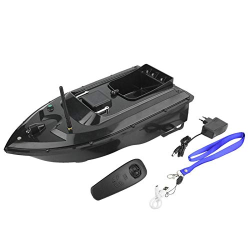 Rosvola Barco de Cebo de Control Remoto, Barco de Cebo de Pesca con Enchufe de la UE, Equipo de Pesca de Barco de Cebo buscador de Peces ABS para entusiastas de la Pesca