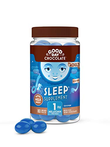 Good Day Chocolate Melatonin Supplement, Natural Sleep Aid (80 Count)