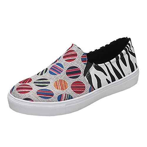 Zapatillas Mujer Running Sneakers Cordones Zapatos de Deportivas Transpirables Zapatillas De Deporte Ligeras(M34_Black,37)