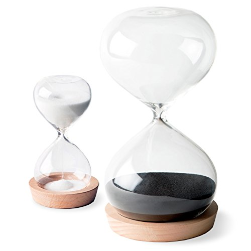 OrgaNice Hourglass Sand Timer - 30 Minute & 5 Minute Timer Set - Improve Productivity & Achieve...