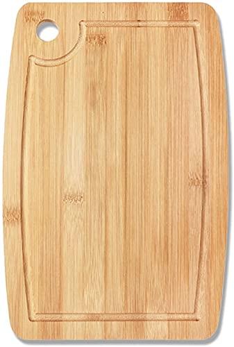 Tabla De Cortar De Bambú Con Ranura Para Jugo Espesar Tabla De Cortar De Madera Antideslizante Bandeja De Queso De Frutas Y Verduras Herramientas Accesorios De Cocina ( Talla : 33×24cm/13×9.5inch )