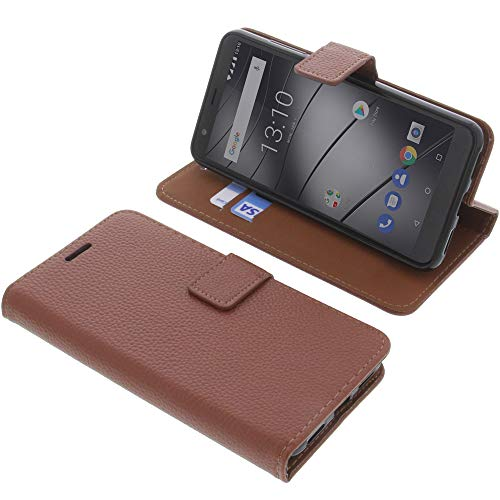 foto-kontor Tasche für Gigaset GS280 Book Style braun Schutz Hülle Buch