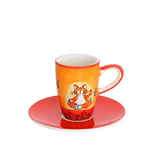 Mila Keramik Espresso-Tasse mit Untere, Oommh Katze | MI-88038 | 4045303880382