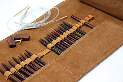 ZEN Interchangeable Rosewood Knitting Needle Set