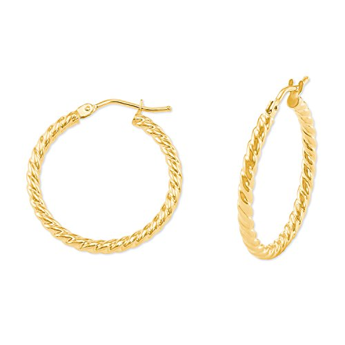 amor Damen-Ohrringe Creolen aus Gold 375