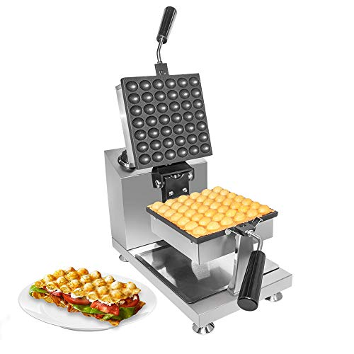 Buy Bargain ALDKitchen Bubble Waffle Maker | Stainless Steel Square Shaped Egg Waffle Iron with Manu...
