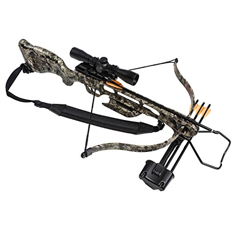 SA Sports 647 Empire Fever Pro 175LB Crossbow Package - 240 FPS Scope, Quiver, Arrows, Sling, Rope...