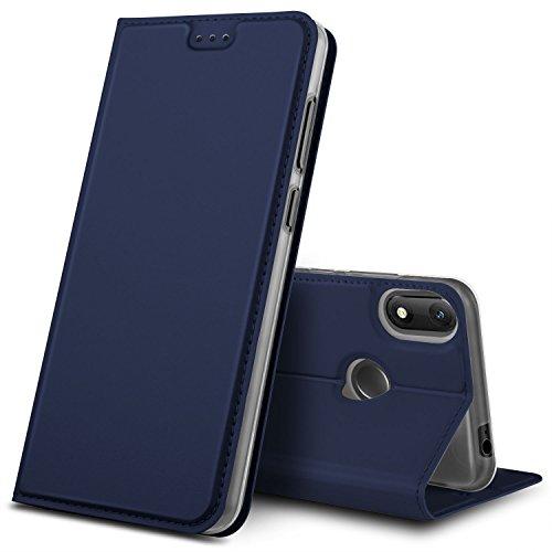 GeeMai Wiko View Max Hülle, Premium Flip Case Tasche Cover Hüllen mit Magnetverschluss [Standfunktion] Schutzhülle Handyhülle für Wiko View Max Smartphone, Blau