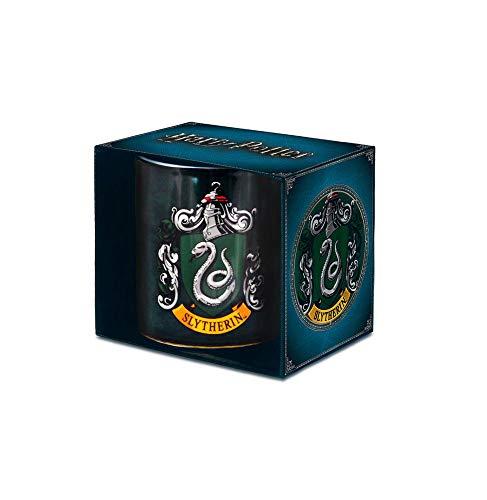 Logoshirt - Film - Harry Potter - Slytherin - Logo - Classic - Porzellan Tasse - Kaffeebecher - farbig - Lizenziertes Originaldesign