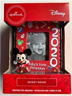 Disney Babys First Christmas Ornament 2020 NEW Hallmark 2020 Disney MICKEY MOUSE Baby's First Christmas
