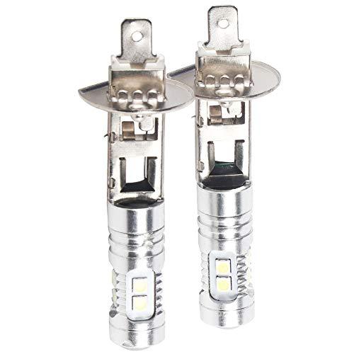 Lampadina LED, 2Pcs 1800LM 12-28V H1 6000K Super White 100W LED Kit lampadine per fari Fendinebbia