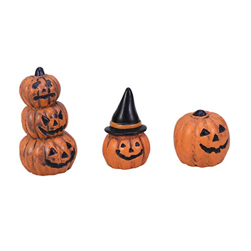 DOITOOL 3Pcs Halloween Ornaments Pumpkin Micro Landscape Craft Decorative DIY Halloween Decorations Halloween Miniatures for Garden Party Table