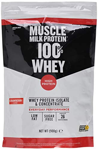 CytoSport Muscle Milk 100% Whey Strawberry, 908 g