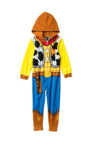 Disney Toy Story Sheriff Woody Boys Costume Pajama Costume Hooded Union Suit (Size 10)