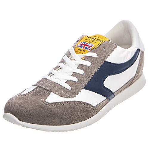 Walsh, Runstyle Sneaker, Wildleder/Canvas, Weiß - White Blu - Größe: 41 EU