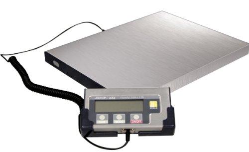Plattformwaage Paketwaage bis 150 Kilogramm **Edelstahl Plattform Waage inkl. Netzteil und Batterien** Versandwaage