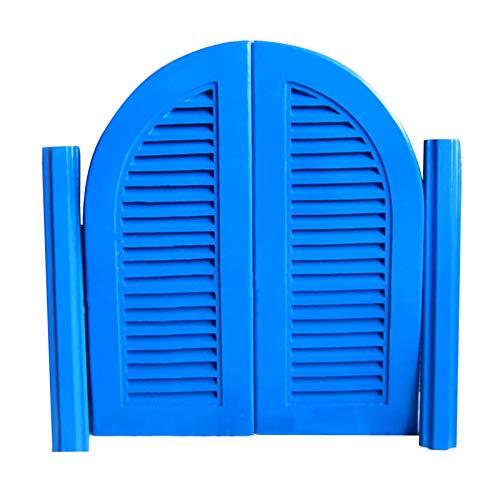 QIANDA Puertas Batientes De Bisagra Cafe, Puerta De La Cerca Bisagras Incluidas Oscilación Puerta Auto Cerrado para Sala Cocina Dividir, Tamaño Personalizado (Color : Blue, Size : 95x80cm)