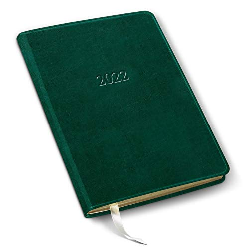 2022 Leather Desk Weekly Planner - Acadia Green