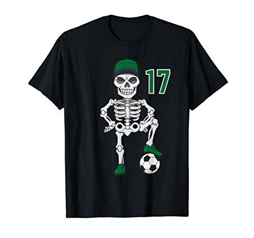 Regalo della maglia numero 17 dello scheletro di calcio Maglietta