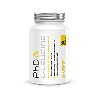 PhD Nutrition L-Leucine Supplement, 90 Capsules