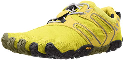 Vibram FiveFingers V-Trail, Zapatillas de Running para Asfalto Mujer, Amarillo (Yellow/Black), 36 EU