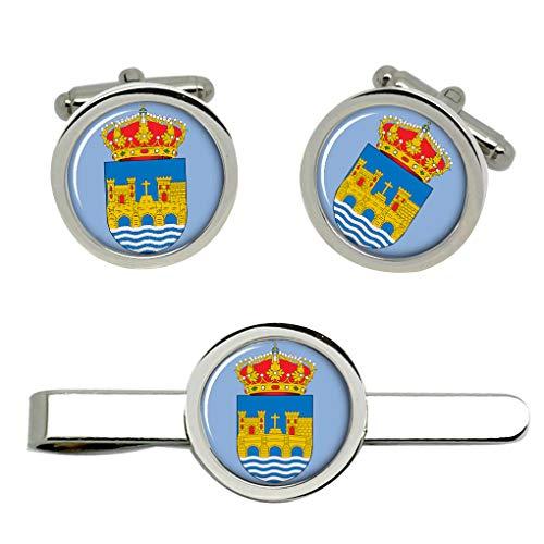 Giftshop UK Pontevedra City (España) Gemelos y Corbata Clip Set
