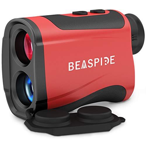 Beaspire Laser Golf Entfernungsmesser, Sport Rangefinder 1100yards/1000m, Jagd Lasermessgerät 1500mAh Wiederaufladbar mit 7X Vergrößerung, Flag-Lock für Golf, Jagd, Turnier, Wandern und Ingenieurwesen