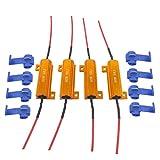 JABINCO 4Pcs 6-ohm Load resistors - Fix LED Bulb Fast Hyper Flash Turn Signal Blink Error Code (Resistors get Very hot During Working)
