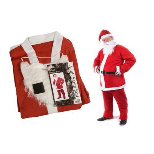 Father Christmas Santa Fancy Dress Costume One Size