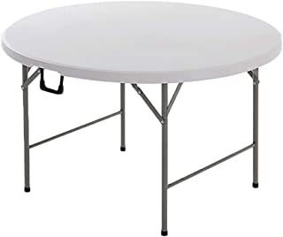 Table Pliante Simple 8-10 Personnes Table de Salle à Manger ménage Portable Ronde (Couleur : A)