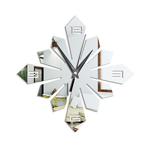 TOLYZ wandklok met spiegel om zelf te maken, wandstickers, 3D, afneembaar, decoratie voor de slaapkamer