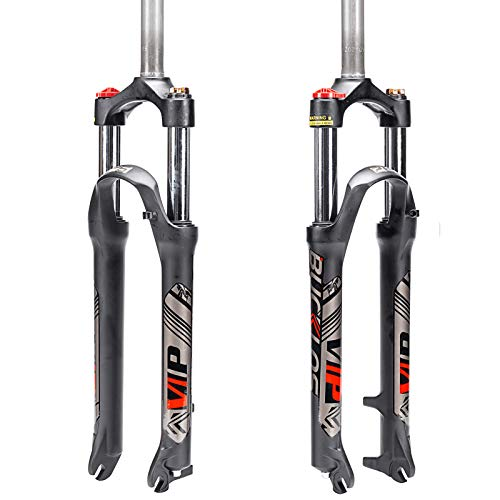 BUCKLOS 【UK STOCK】 26/27.5/29 MTB Suspension Fork Travel 100mm, 28.6mm Straight Tube QR 9mm Crown Lockout Aluminum alloy XC Mountain Bike Front Forks