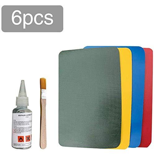 SZFREE 6 Stks PVC Patch Lijm Reparatie Kit, Waterdichte Lijm Lijm Reparatie Set voor Kayaking Zwembad Speelgoed