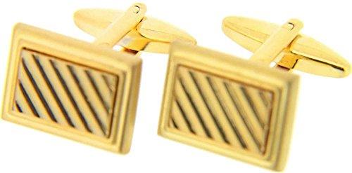 Gold rechteckiger Grill Manschettenknöpfe von David Van Hagen