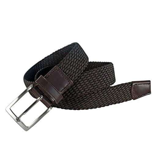 Leyva Cinturón de hombre piel trenzado elástico