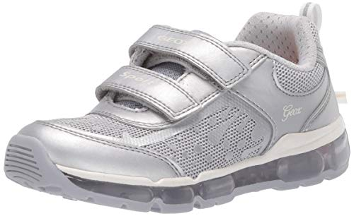 Geox Mädchen J Android Girl B Sneaker, Silber (Silver C1007), 34 EU
