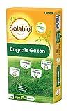 SOLABIOL Engrais gazon organique - Sac de 15 kg pour 375 m² de gazon - Utilisable en Agriculture Biologique
