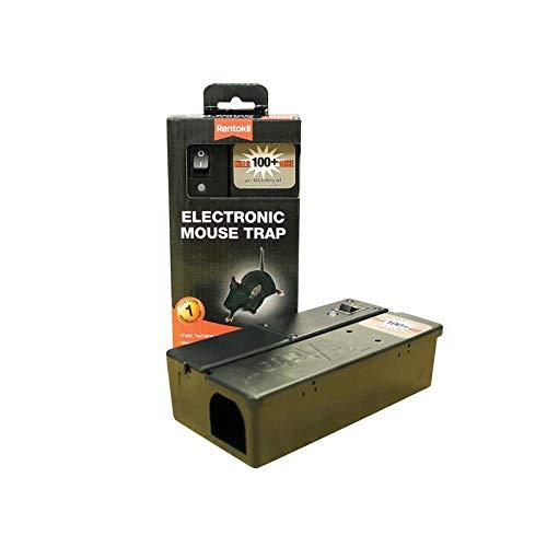 Rentokil FE35 - Trappola elettronica per mouse, 17 x 8,8 x 5,1 cm, colore: Nero