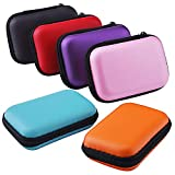 Sunmns Headphone Case Earphone SD TF Card USB Flash Disk Storage Cases Bag, 6 Pieces
