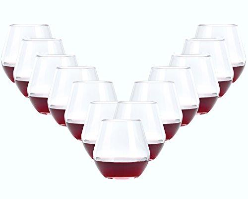 Hocz drinkglazen set Canada 12-delig | Inhoud: 420 ml | Een glas voor alle dranken - de perfecte allrounder | ook geschikt als cocktailglas