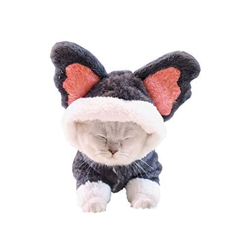 Khemn Designer Winter Warm Katze Koala-Kostüm Katzenmantel Jumpsuit Hoodie mit Dicker & hautfreundlicher Baumwolle
