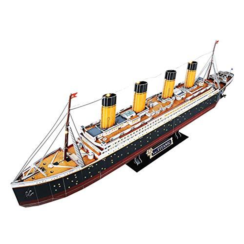 LUGEUK LED Titanic Rompecabezas Modelo Kits Modelo 3D