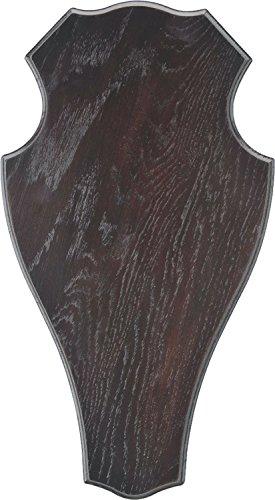 Geweihbrett für Rot und Damhirsch 29x17cm dunkel rund