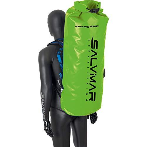 SALVIMAR Dry Back Pack 60/80, Borse da Subacquea Unisex Adulto, Verde, 44x28x95 80lt