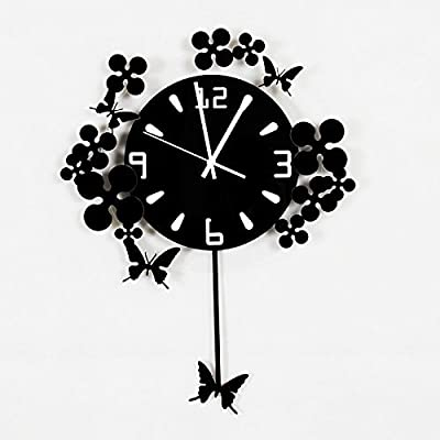 PQPQPQPQ Non-ticking Silent Modern Matt Wall Clock DIY for Living Room Bedrooms Office Kitchens