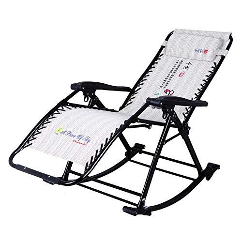 DAGCOT Garten Zero Gravity Chair Tragbare Reclining Rasen-Stühle Gemütlich Schaukelstuhl Relax - faltbare Lounge...