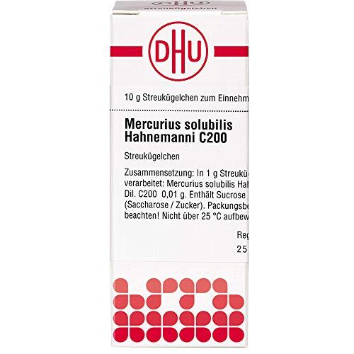 DHU Mercurius solubilis Hahnemanni C200 Streukügelchen, 10 g Globuli