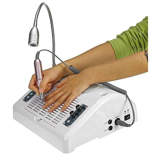 GuoEY Máquina de Taladro de uñas eléctrica 5-EN-1, Aspirador de colector de Polvo para uñas Lámpara de uñas UV Secadora de curado Almohada de Mano con luz LED, Kit de manicura y pedicura para Puli