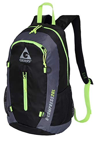 Gerry Compress Packable Backpack, Black and Fizz