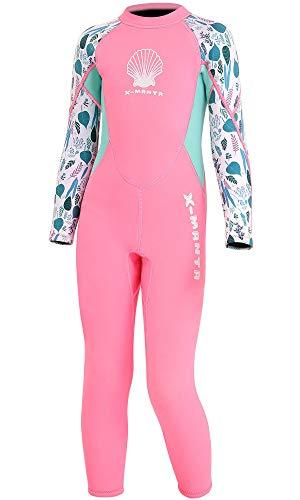 FAIRYRAIN Kinder Mädchen Neoprenanzug 2.5MM Neopren Lang Wetsuit Schwimmanzug Wärmehaltung Tauchanzug Badeanzug Wetsuit für Wassersport Diving Suit